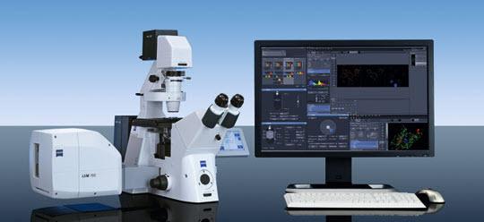 激光共聚焦显微镜为细胞生物学研究必需仪器设备,用于研究亚细胞结构